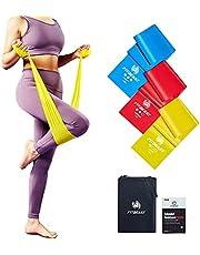 FitBeast Weerstandsbanden [Set van 3] oefenbanden met 3 weerstandsniveaus, set voor dames en heren, trainingsweerstandsbanden voor yoga, pilates, fysiotherapie, thuistraining, fitness