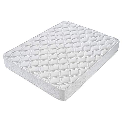 Panana Extra Comfort Thickness 25cm Sprung Mattresses Diamond Pattern Design Economic Mattress with Breathable Foam,Various (4FT)