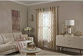 allen + roth Breesport 84-in Blush Polyester Semi-Sheer Single Curtain Panel