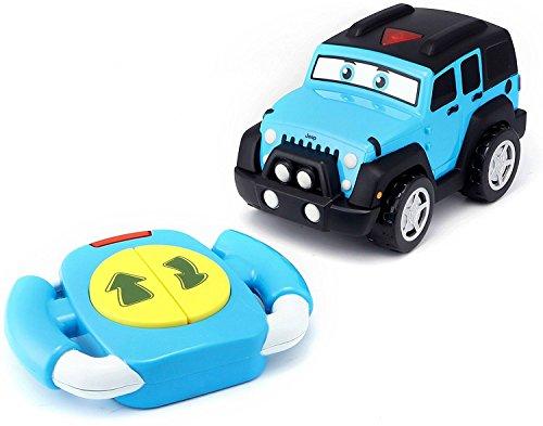 Bauer Spielwaren 16-82301 Jeep - Lil Driver unlimited Spielzeugauto mit Fernsteuerung, Hell-Blau