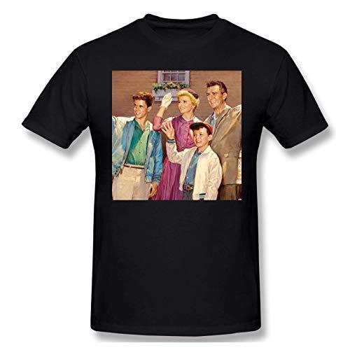 IUBBKI Camiseta básica de Manga Corta para Hombre Mens Print with Leave It to Beaver Fashion Short Sleeve T-Shirt