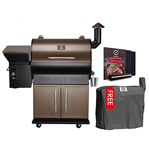 Z Grills Wood Pellet Grill Smoker with 2020 Newest Digital Controls ,700 Cooking Area 8- in-1...