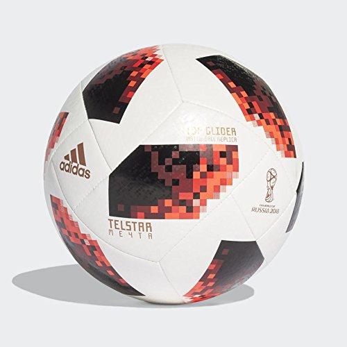 adidas W Cup KO Tglid Balón, Hombre, Blanco/Rojo / Negro, Talla 5