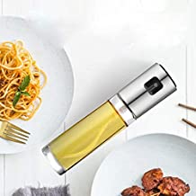 Coollooda Mist Oil Container 100ml Olive Oil Spray Oil Soy Sauce Condiment Alcohol etc. Applicable (100ml) Silver
