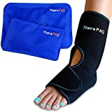 Foot & Ankle Ice Pack Wrap with 2 Hot/Cold Gel Packs by TheraPAQ |...