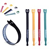 Tipu 16-Pack Gear Rubber Ties, Reusable Rubber...