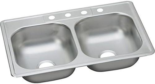 Elkay DDW10233222 22 Gauge Stainless Max 68% OFF Mount Double Top Bowl 25% OFF Steel