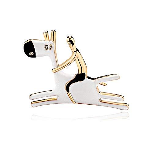 N/W Brooch Pin For Women, Girls, Ladies Cartoon Character Brooch Personality Donkey Animal White Brooch Brooch Birthday