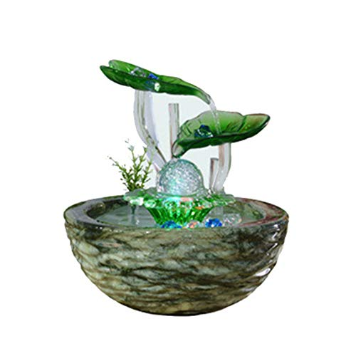 Intelligente Water Aquarium Office Decoratie Fontein Waterdistributie Bal Lotus Leaf Creatieve Woonkamer Feng Shui Glas Ambacht