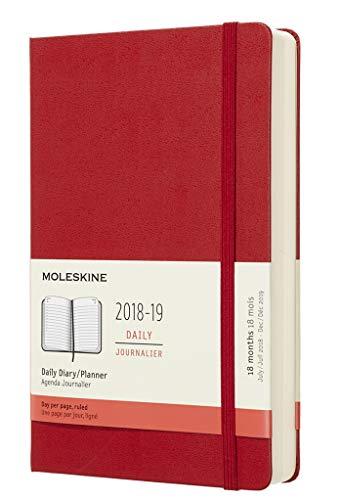 Moleskine Tageskalender, Taschenkalender, 18 Monate, 2018/2019, Large, A5, Hard Cover
