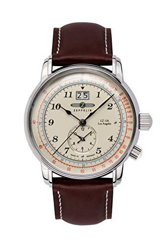 ツェッぺリン(ZEPPELIN) メンズ時計(【型番:86445】電池式(クオーツ式)【ホワイト/**】