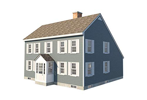 Traditional Saltbox House Plans Two Story Colonial Home Building Project DIY