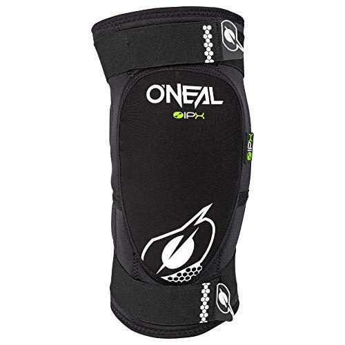 O'NEAL | Knieprotektor | BMX Mountainbike Downhill | IPX®- Aufprallschutz aus Polyurethan, Leichte und kompakte Konstruktion, Abriebfestes Material | Dirt Knee Guard | Erwachsene | Schwarz | Größe L