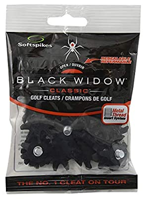 Softspikes Black Widow Classic Cleat Small Metal Thread, 22 Count