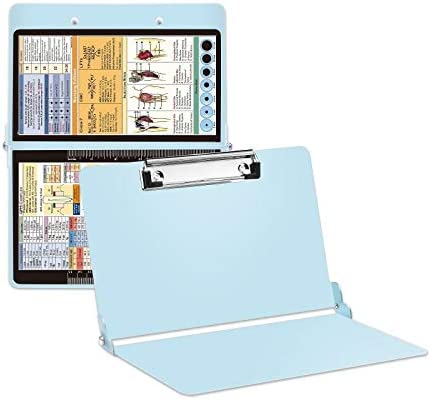 Mint Nursing Clipboard with Pen Holder Foldable Nurse Clipboard with Generous Storage Lightweight product image