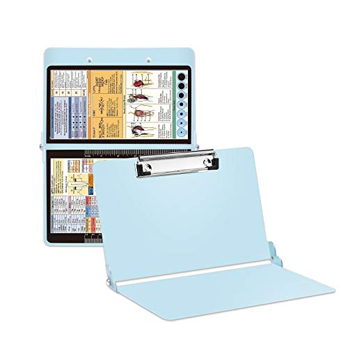 Mint Nursing Clipboard with Pen Holder, Foldable Nurse Clipboard with Generous Storage, Lightweight Aluminum Nursing Board, Gifts for Nursing Students, Nurses and Healthcare Professionals