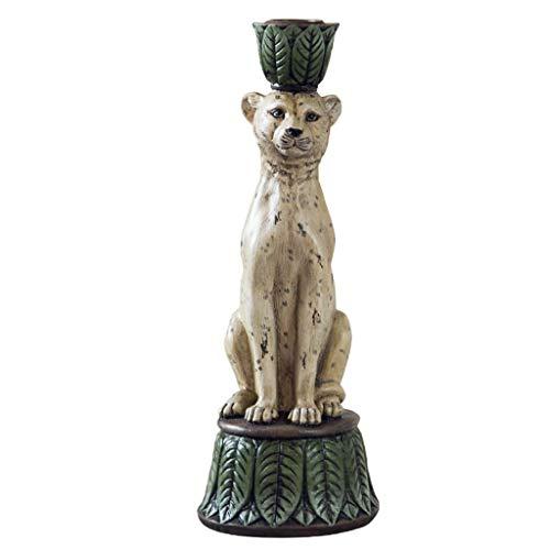 Ornamento de Escritorio Titular de resina leopardo Figurita Vela, Selva Serie sostenedor de vela Ideal for el LED y el Pilar Velas, Centro de mesa for la boda, partido, la decoración artesanías decora