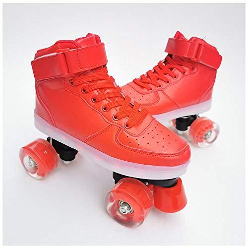 HANHJ Patines De Rodillos Patines Luminosos Patines De Rodillos con Ruedas Doble Roller Skate Shoes Roller Blades para Hombres Y Mujeres Adultos,D-39