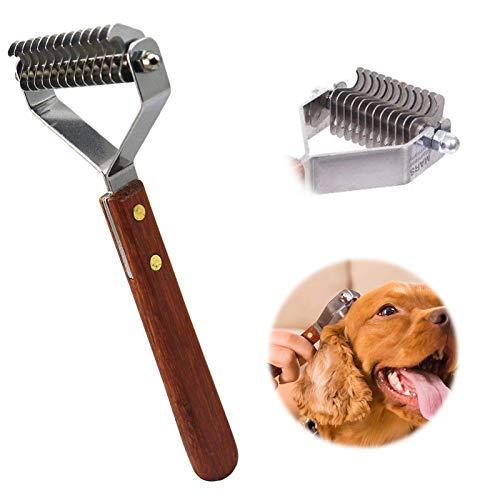 AIDIYA Profesional Pet Dematting Peine Grooming Stripping Herramienta para Perros y Gatos (7.2cm)