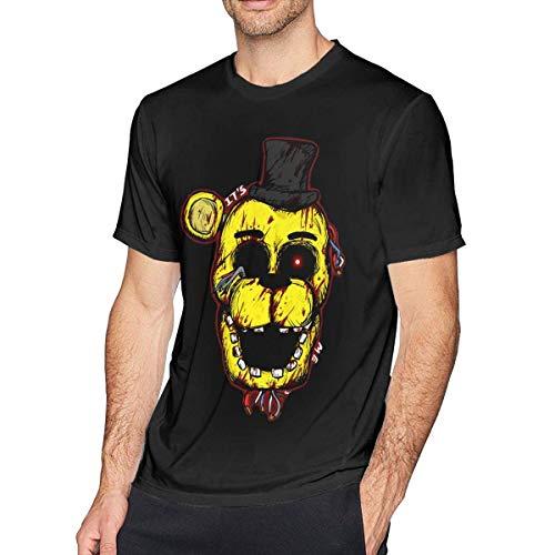 Bloody Golden Freddy FNAF Men's Comfort T-Shirt Black,X-Large