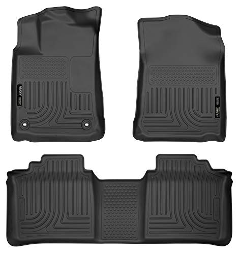 Husky Liners Fits 2013-18 Toyota Avalon ELECTRIC/GAS Weatherbeater Front & 2nd Seat Floor Mats