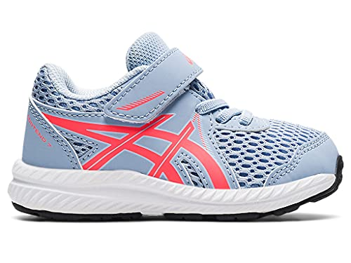 ASICS Kid's Contend 7 TS Running Shoes, K7, Mist/Blazing Coral