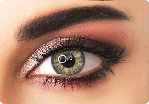 ADORE Farbige kontaktlinsen Lenses - PEARL - 3 Monaten- ohne Stärke + gratis Kontaktlinsenbehälte… (Gelb)