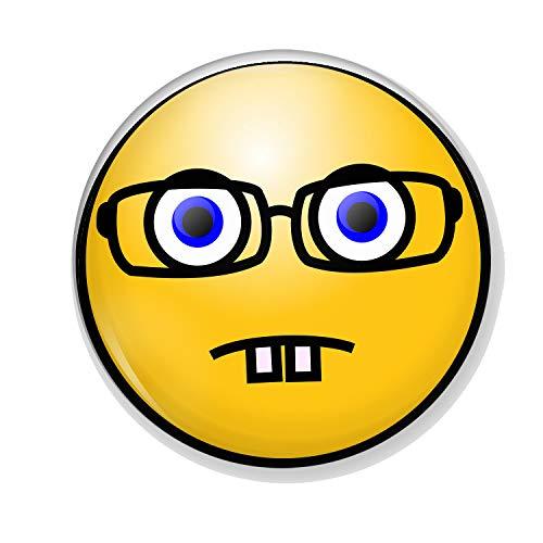 Gifts & Gadgets Co. Untersetzer, Motiv Smiley Emoji, 90 mm, rund, Hartrückwand