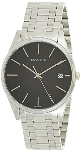 Calvin Klein Herren Analog Quarz Smart Watch Armbanduhr mit Edelstahl Armband K4N21141