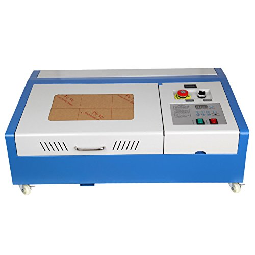 PanelTech 12'x 8' 40W USB CO2 Laser Engraver Laser Engraving Cutting Machine DIY Engraver Cutter with Movable wheels and Exhaust Fan
