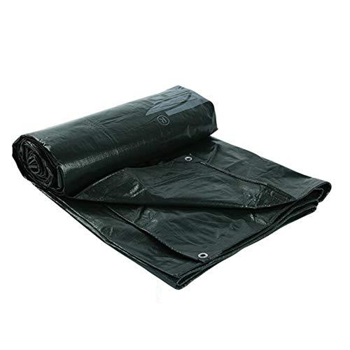 Dall bâche PE Bâche Imperméable UV Protégé Protection Solaire Feuille De Sol des Couvertures (Couleur : Noir, Taille : 5 * 5m)