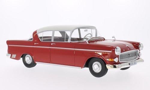 Opel Kapitän P 2.5, rot/weiss, 1958, Modellauto, Fertigmodell, BoS-Models 1:18