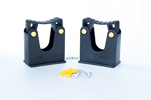 Toolflex Gartengerätehalter Werkzeughalter Doppelpack für Stiele mit Durchmesser von 15-20mm