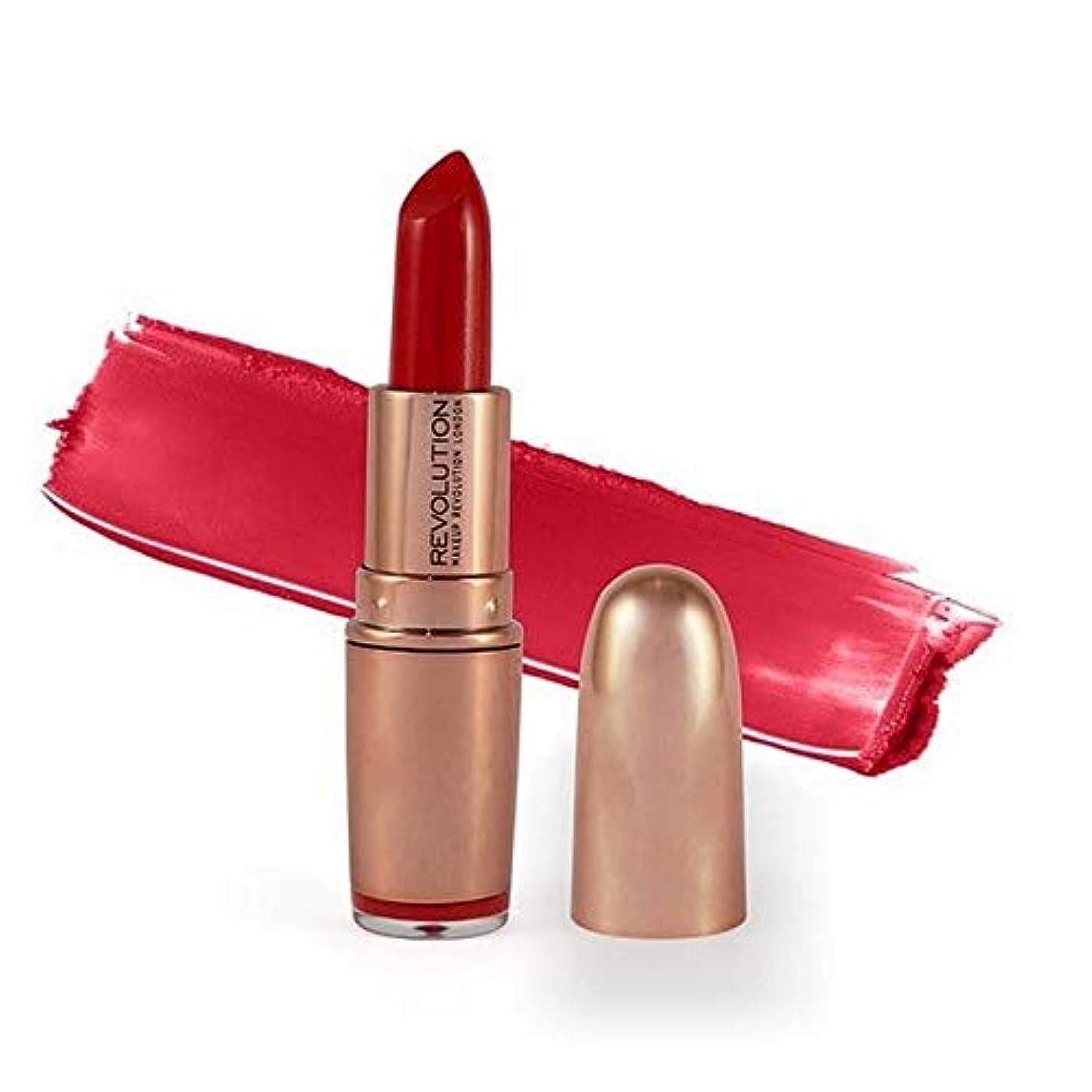 退屈磁器ガム[Revolution ] 革命は、金口紅レッドカーペット3.2グラムをバラ - Revolution Rose Gold Lipstick Red Carpet 3.2G [並行輸入品]