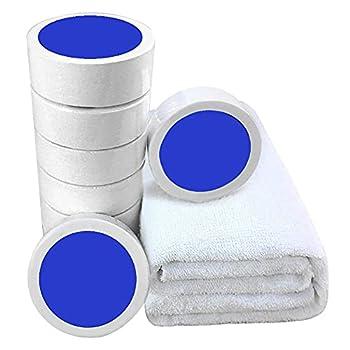 XOYZUU Lot de 5 serviettes compressées en coton compressé - Portables et compactes - Pour voyage, camping, randonnée, sports de plein air - 25 x 50 cm