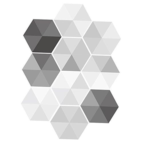 10 stk. Vintage Hexagon Fliesen Aufkleber, Deko Fliesenfolie Fliesensticker für Bad Küche - # 1