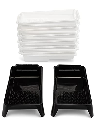 Cascade Tools Hard Shell 4 Inch Paint Tray (2 Pack) with 12 Disposable...