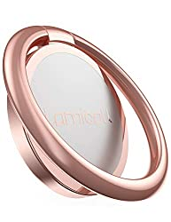 Phone Ring Holder, Lamicall Finger Ring Stand : Universal Cell Phone Cradle Kickstand Compatible with Phone Xs Max XR X 8 7 6 6s Plus 5s, Samsung Galaxy S8 S7 S6, All Android Smartphone - Rose Gold