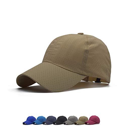 Unisex Breathable Qick Dry Top Hats for Women Baseball Caps Men Baseball Hats Dad Hat (Beige)