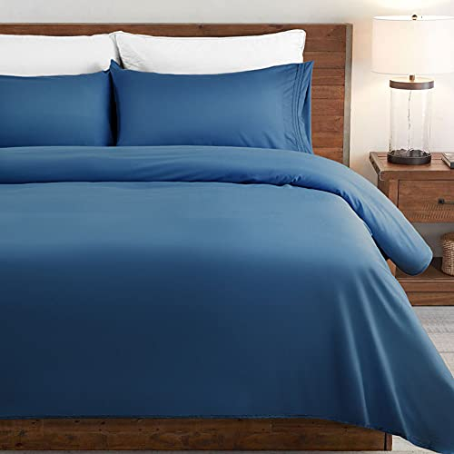 SONORO KATE Bed Sheet Set Super Soft Microfiber 1800 Thread Count Luxury Egyptian Sheets Fit 18 - 24 Inch Deep Pocket Mattress Wrinkle-4 Piece (Navy Blue, Full)