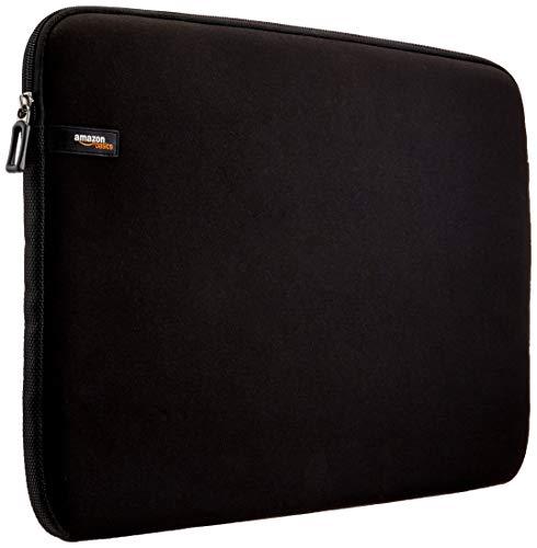 Amazon Basics Laptop-Schutzhülle, für eine Displaydiagonale von 44cm (17,3Zoll), Schwarz