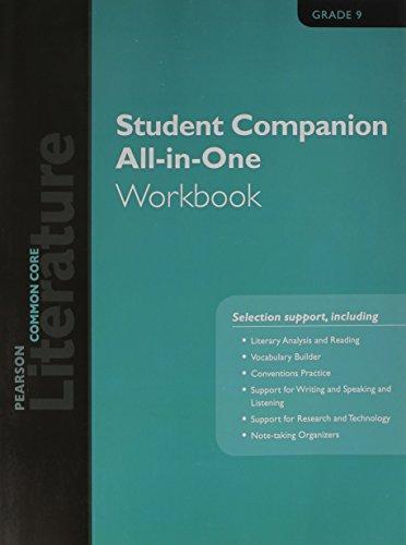 Pearson Literature 2015 Common Core Student Companion All In One Workbook Grade 09