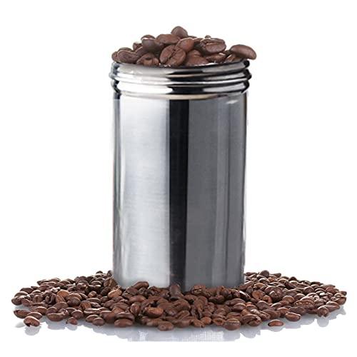 XIANGE100-SHOP Almacenamiento de Acero Inoxidable Té té Granos de café Contenedor Viaje al Aire Libre Camping Aceroero de Acero Inoxidable Organizador de Almacenamiento Almacenamiento (Size : 13cm)