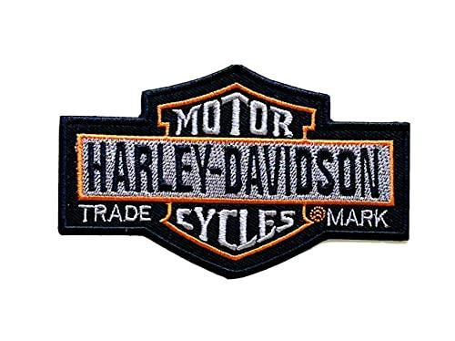 Écusson brodé Harley Davidson pour motard - À repasser ou à coudre