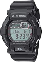 Casio GSHOCK Stainless Steel Quartz Watch with Resin Strap, Black, 21.4 (Model: GD350-1CR)