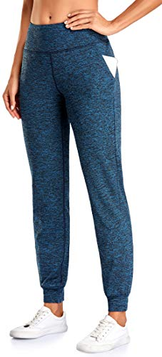 Cestyle Blue Sweatpants for Girls, Elastic Cinch Bottom Fuzzy Joggers Trend Loose Fit Pants for Yoga Gym Outdoor Exercises Travel Pretty Soft Comfy Baggy Blue Medium
