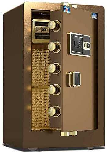 Pistol Veilig, Brandkasten Huis, Digital Safe Elektronische Kluis Met Medium Office Fingerprint Kluis, Anti-Theft Klein Invisible Safe,Brown