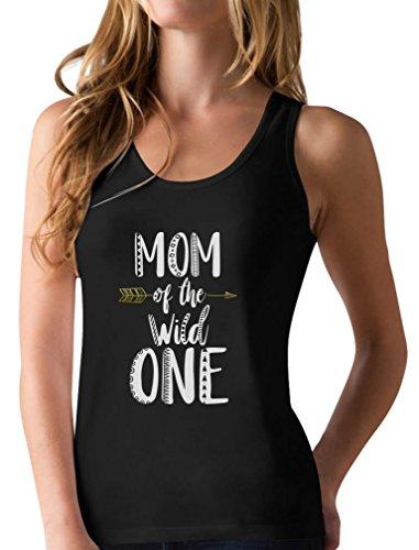 Mom of The Wild One Shirt Funny 1st Birthday Racerback Tank...