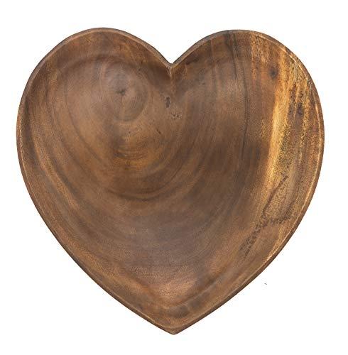 ACACIA Holzteller in Herzform Akazienholz Fair Trade (20x20x3cm)
