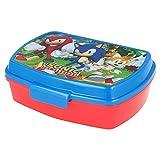 | Sonic | Sandwichera Para Niños Decorada - Fiambrera Infantil | Caja Para El Almuerzo Y Porta Merienda Para Colegio - Lonchera